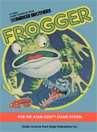 Box cover for Frogger on the Atari 5200.