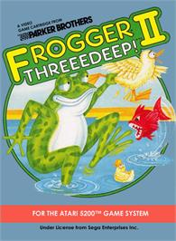 Box cover for Frogger 2: Three Deep on the Atari 5200.
