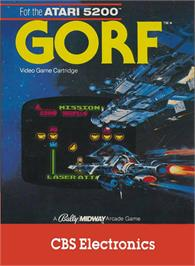 Box cover for Gorf on the Atari 5200.