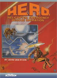 Box cover for HERO on the Atari 5200.