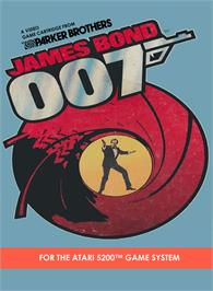 Box cover for James Bond 007 on the Atari 5200.