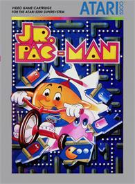 Box cover for Jr. Pac-Man on the Atari 5200.