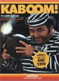 Box cover for Kaboom on the Atari 5200.