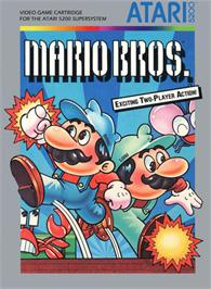 Box cover for Mario Bros. on the Atari 5200.