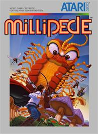 Box cover for Millipede on the Atari 5200.