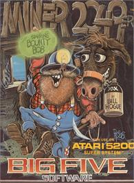 Box cover for Miner 2049er on the Atari 5200.