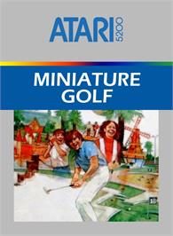 Box cover for Miniature Golf on the Atari 5200.