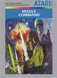 Box cover for Missile Command on the Atari 5200.