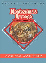 Box cover for Montezuma's Revenge on the Atari 5200.