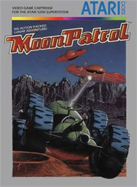 Box cover for Moon Patrol on the Atari 5200.