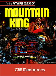 Box cover for Mountain King on the Atari 5200.
