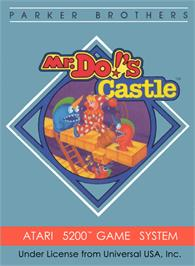 Box cover for Mr. Do's Castle on the Atari 5200.