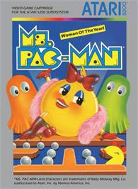 Box cover for Ms. Pac-Man on the Atari 5200.