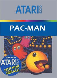 Box cover for Pac-Man on the Atari 5200.