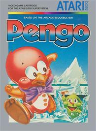 Box cover for Pengo on the Atari 5200.