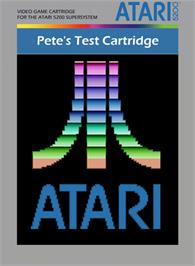 Box cover for Pete's Test Cartridge on the Atari 5200.