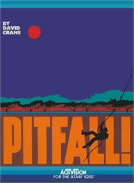 Box cover for Pitfall on the Atari 5200.