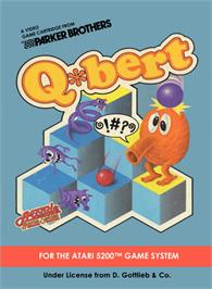 Box cover for Q*bert on the Atari 5200.