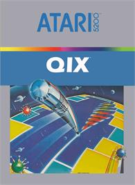 Box cover for Qix on the Atari 5200.