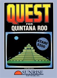 Box cover for Quest for Quintana Roo on the Atari 5200.