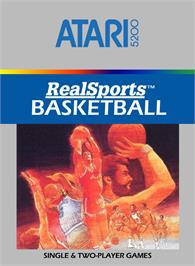 Box cover for RealSports Basketball on the Atari 5200.