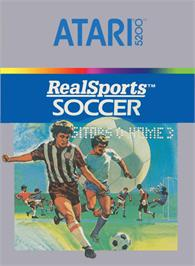Box cover for RealSports Soccer on the Atari 5200.