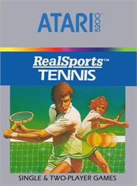 Box cover for RealSports Tennis on the Atari 5200.