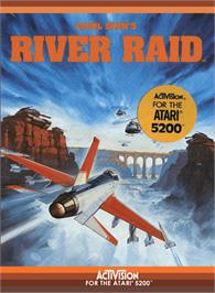 Box cover for River Raid on the Atari 5200.