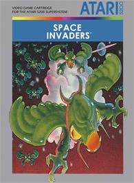 Box cover for Space Invaders on the Atari 5200.