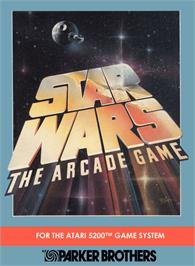 Box cover for Star Wars Arcade on the Atari 5200.
