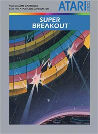 Box cover for Super Breakout on the Atari 5200.