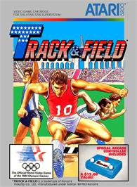 Box cover for Track & Field on the Atari 5200.