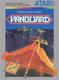 Box cover for Vanguard on the Atari 5200.