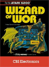 Box cover for Wizard of Wor on the Atari 5200.