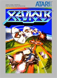 Box cover for Xevious on the Atari 5200.
