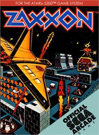 Box cover for Zaxxon on the Atari 5200.