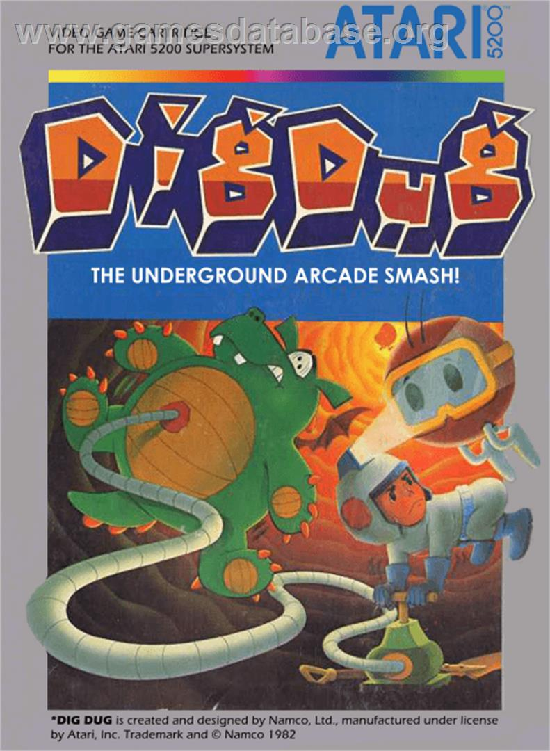 Dig Dug - Atari 5200 - Artwork - Box
