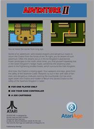 Box back cover for Adventure 2 on the Atari 5200.