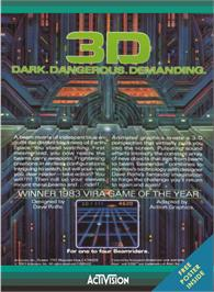 Box back cover for Beamrider on the Atari 5200.