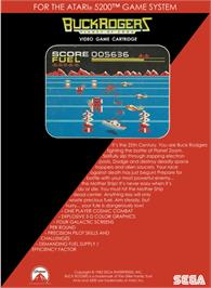 Box back cover for Buck Rogers: Planet of Zoom on the Atari 5200.