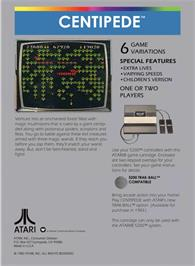 Box back cover for Centipede on the Atari 5200.