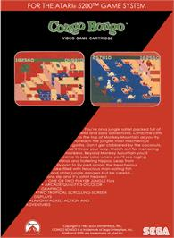 Box back cover for Congo Bongo on the Atari 5200.
