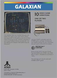 Box back cover for Galaxian on the Atari 5200.
