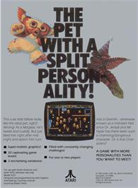 Box back cover for Gremlins on the Atari 5200.