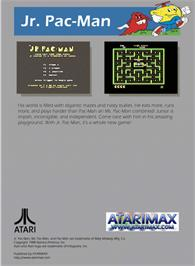 Box back cover for Jr. Pac-Man on the Atari 5200.