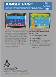 Box back cover for Jungle Hunt on the Atari 5200.