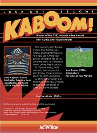 Box back cover for Kaboom on the Atari 5200.