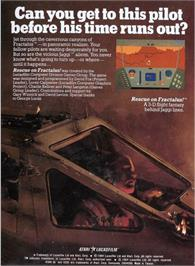 Box back cover for Rescue on Fractalus on the Atari 5200.