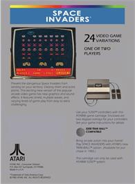 Box back cover for Space Invaders on the Atari 5200.