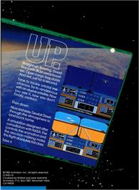 Box back cover for Space Shuttle: A Journey into Space on the Atari 5200.